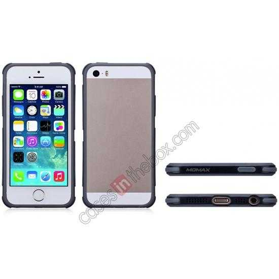 low price Momax Slender PC+TPU Bumper for Apple iPhone 5S/5 - Black