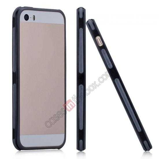 wholesale Momax Slender PC+TPU Bumper for Apple iPhone 5S/5 - Black