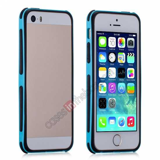 discount Momax Slender PC+TPU Bumper for Apple iPhone 5S/5 - Blue