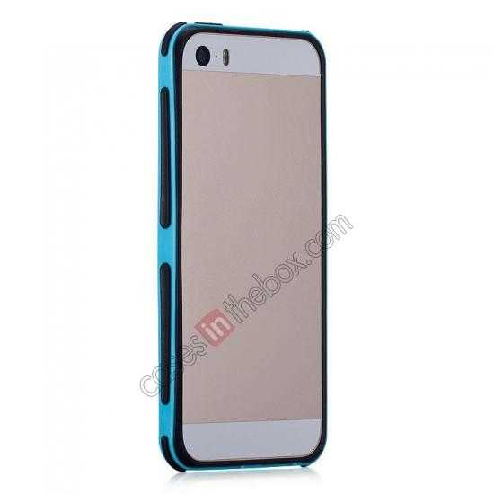 cheap Momax Slender PC+TPU Bumper for Apple iPhone 5S/5 - Blue