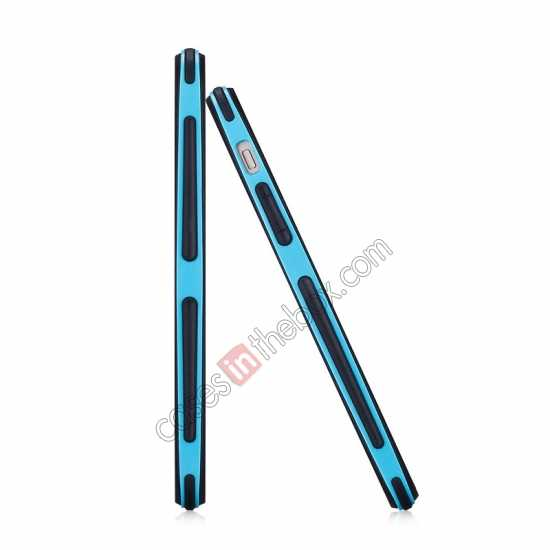 top quality Momax Slender PC+TPU Bumper for Apple iPhone 5S/5 - Blue
