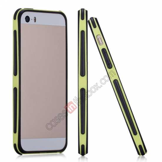 wholesale Momax Slender PC+TPU Bumper for Apple iPhone 5S/5 - Yellow