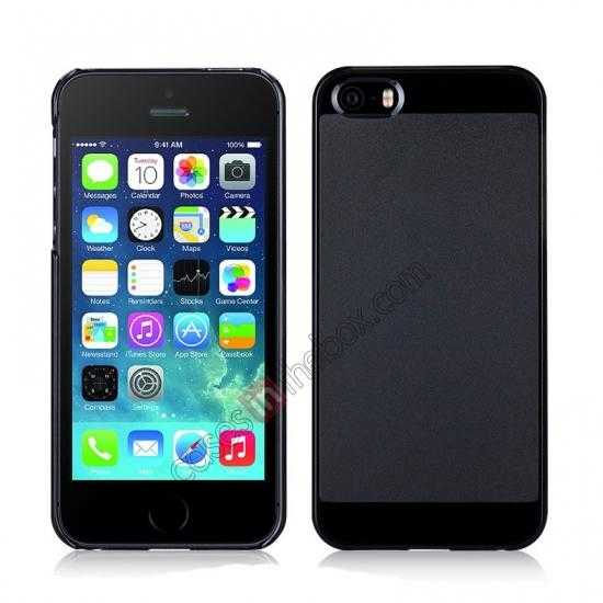 wholesale Momax Ultra Thin Series Clear Breeze Case Cover for iPhone 5S - Black