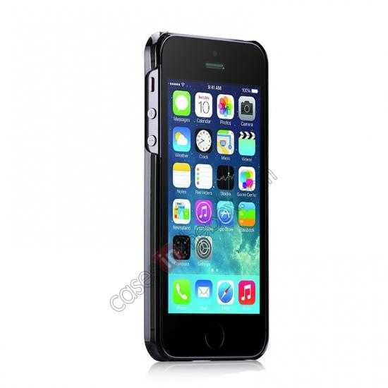 discount Momax Ultra Thin Series Clear Breeze Case Cover for iPhone 5S - Black
