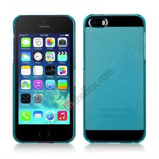wholesale Momax Ultra Thin Series Clear Breeze Case Cover for iPhone 5S - Light Blue
