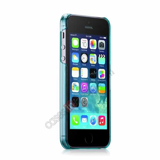 discount Momax Ultra Thin Series Clear Breeze Case Cover for iPhone 5S - Light Blue