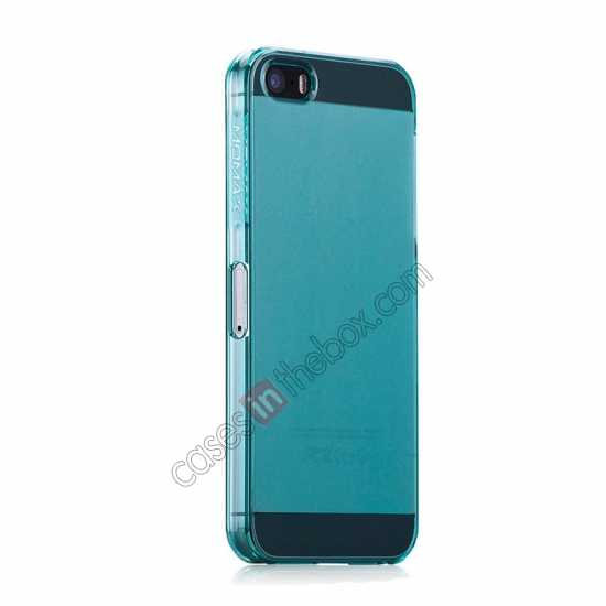 cheap Momax Ultra Thin Series Clear Breeze Case Cover for iPhone 5S - Light Blue