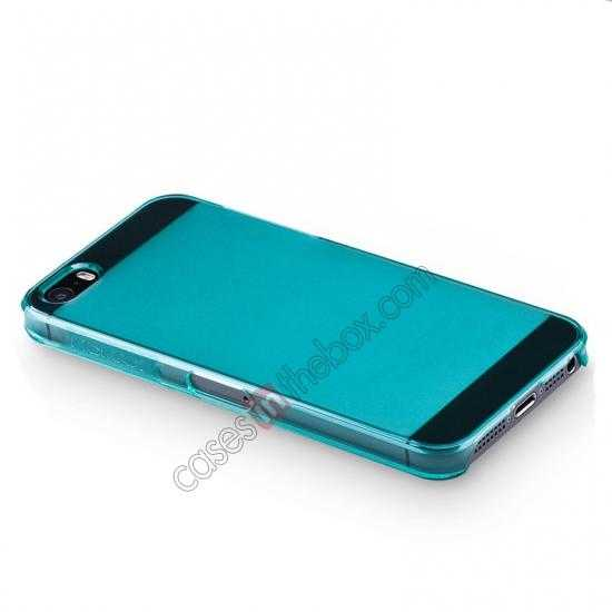 top quality Momax Ultra Thin Series Clear Breeze Case Cover for iPhone 5S - Light Blue