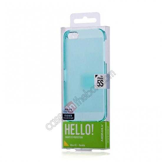 best price Momax Ultra Thin Series Clear Breeze Case Cover for iPhone 5S - Light Blue