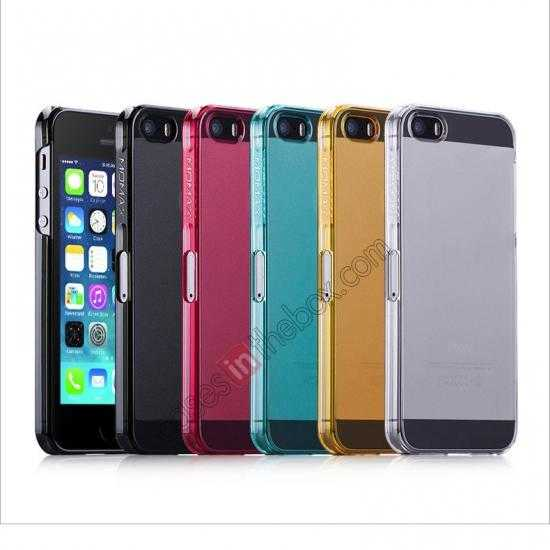low price Momax Ultra Thin Series Clear Breeze Case Cover for iPhone 5S - Light Blue