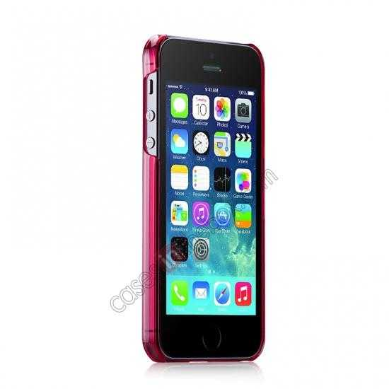 discount Momax Ultra Thin Series Clear Breeze Case Cover for iPhone 5S - Red