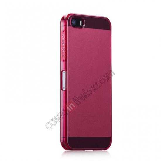 cheap Momax Ultra Thin Series Clear Breeze Case Cover for iPhone 5S - Red