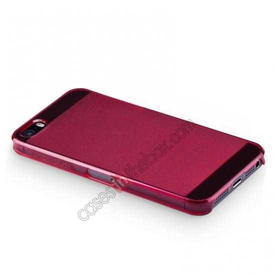 top quality Momax Ultra Thin Series Clear Breeze Case Cover for iPhone 5S - Red