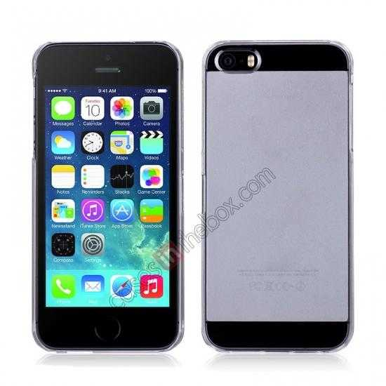 wholesale Momax Ultra Thin Series Clear Breeze Case Cover for iPhone 5S - White