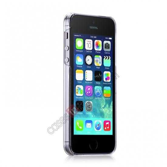 discount Momax Ultra Thin Series Clear Breeze Case Cover for iPhone 5S - White