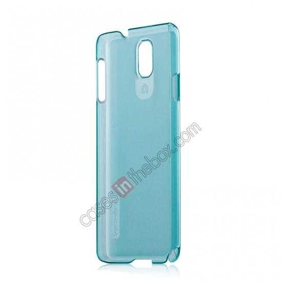 cheap Momax Ultra Thin Series Clear Breeze Case Cover for Samsung Galaxy Note 3 - Light Blue