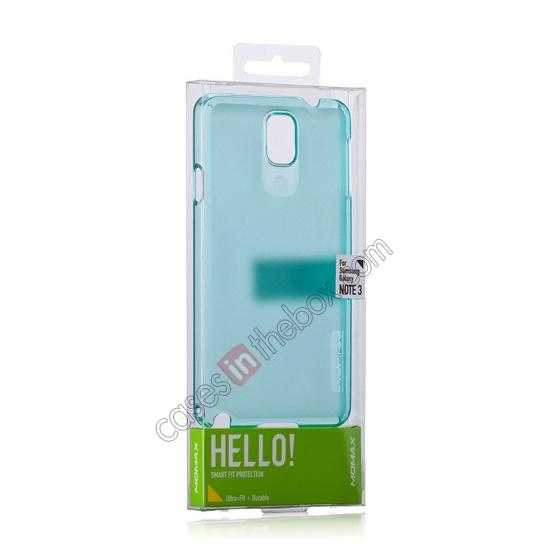 top quality Momax Ultra Thin Series Clear Breeze Case Cover for Samsung Galaxy Note 3 - Light Blue