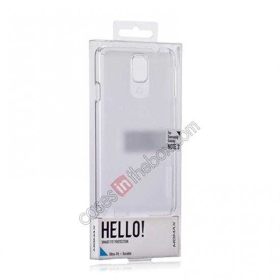 top quality Momax Ultra Thin Series Clear Breeze Case Cover for Samsung Galaxy Note 3 - White