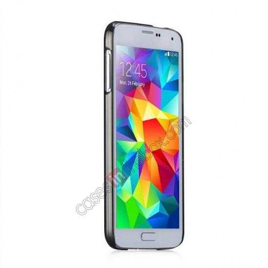 top quality Momax Ultra Thin Series Clear Breeze Case Cover for Samsung Galaxy S5 - Black