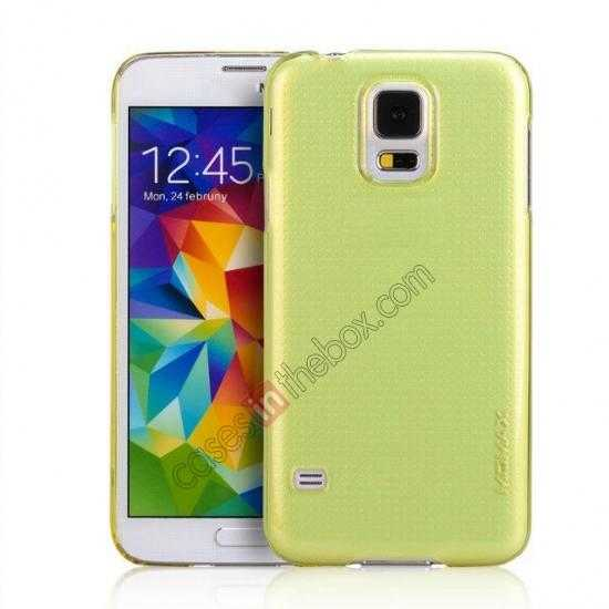 wholesale Momax Ultra Thin Series Clear Breeze Case Cover for Samsung Galaxy S5 - Green