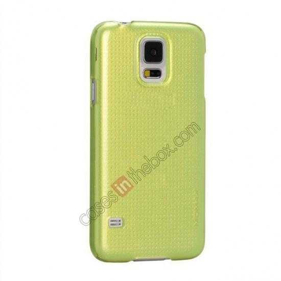 discount Momax Ultra Thin Series Clear Breeze Case Cover for Samsung Galaxy S5 - Green