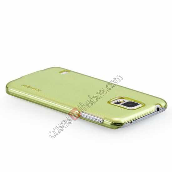 top quality Momax Ultra Thin Series Clear Breeze Case Cover for Samsung Galaxy S5 - Green