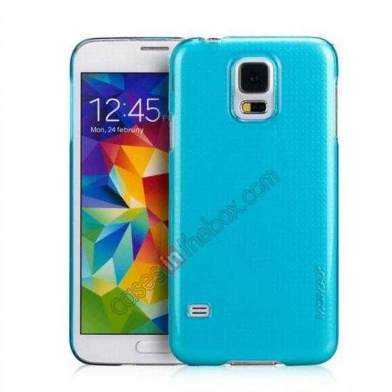 wholesale Momax Ultra Thin Series Clear Breeze Case Cover for Samsung Galaxy S5 - Light Blue