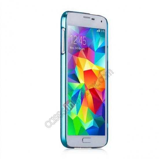 cheap Momax Ultra Thin Series Clear Breeze Case Cover for Samsung Galaxy S5 - Light Blue