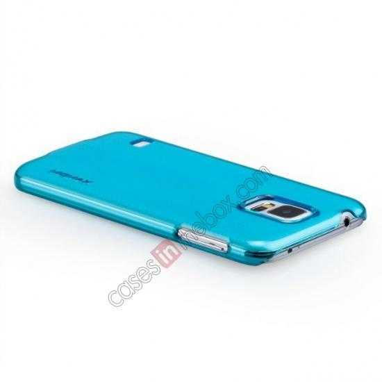 top quality Momax Ultra Thin Series Clear Breeze Case Cover for Samsung Galaxy S5 - Light Blue
