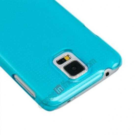 best price Momax Ultra Thin Series Clear Breeze Case Cover for Samsung Galaxy S5 - Light Blue