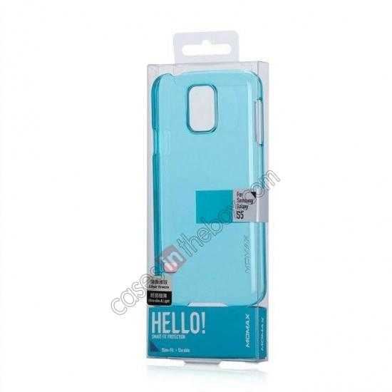 on sale Momax Ultra Thin Series Clear Breeze Case Cover for Samsung Galaxy S5 - Light Blue
