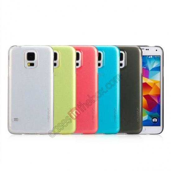 low price Momax Ultra Thin Series Clear Breeze Case Cover for Samsung Galaxy S5 - Light Blue