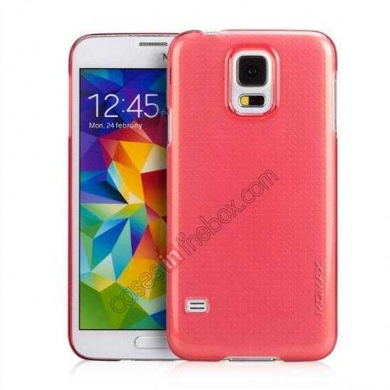 wholesale Momax Ultra Thin Series Clear Breeze Case Cover for Samsung Galaxy S5 - Red