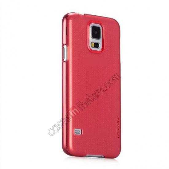 discount Momax Ultra Thin Series Clear Breeze Case Cover for Samsung Galaxy S5 - Red