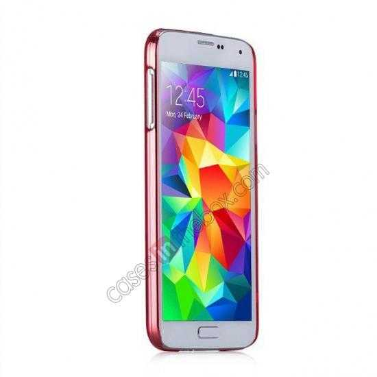 cheap Momax Ultra Thin Series Clear Breeze Case Cover for Samsung Galaxy S5 - Red