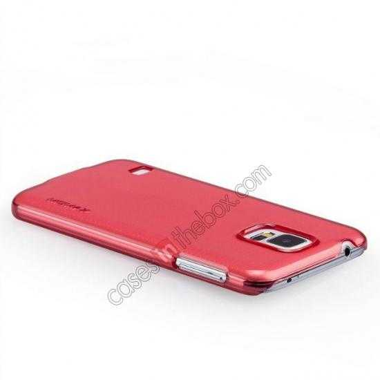 top quality Momax Ultra Thin Series Clear Breeze Case Cover for Samsung Galaxy S5 - Red