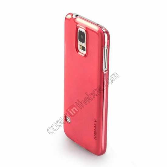 on sale Momax Ultra Thin Series Clear Breeze Case Cover for Samsung Galaxy S5 - Red