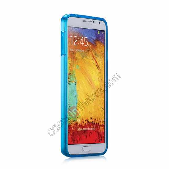 discount Momax Ultra Thin Series Clear Twist Silicon Case for Samsung Galaxy Note 3 - Blue