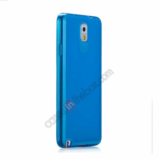 cheap Momax Ultra Thin Series Clear Twist Silicon Case for Samsung Galaxy Note 3 - Blue