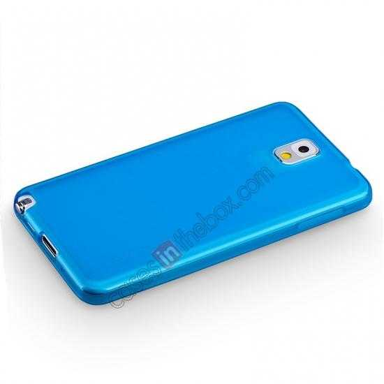 top quality Momax Ultra Thin Series Clear Twist Silicon Case for Samsung Galaxy Note 3 - Blue