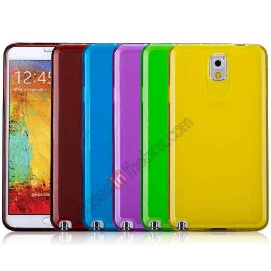 on sale Momax Ultra Thin Series Clear Twist Silicon Case for Samsung Galaxy Note 3 - Blue