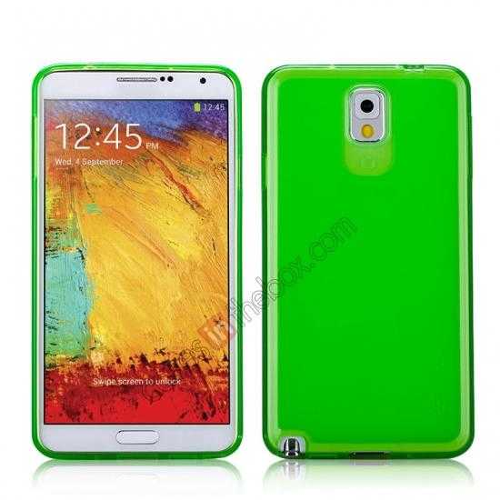 wholesale Momax Ultra Thin Series Clear Twist Silicon Case for Samsung Galaxy Note 3 - Green