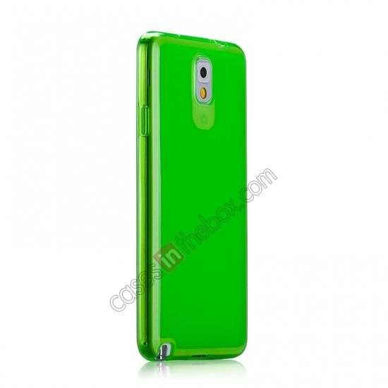 discount Momax Ultra Thin Series Clear Twist Silicon Case for Samsung Galaxy Note 3 - Green