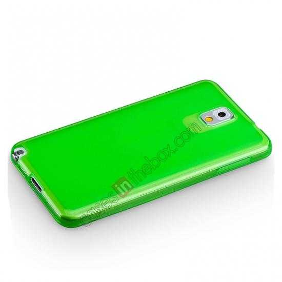 cheap Momax Ultra Thin Series Clear Twist Silicon Case for Samsung Galaxy Note 3 - Green
