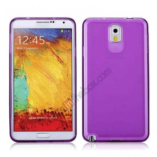 wholesale Momax Ultra Thin Series Clear Twist Silicon Case for Samsung Galaxy Note 3 - Purple