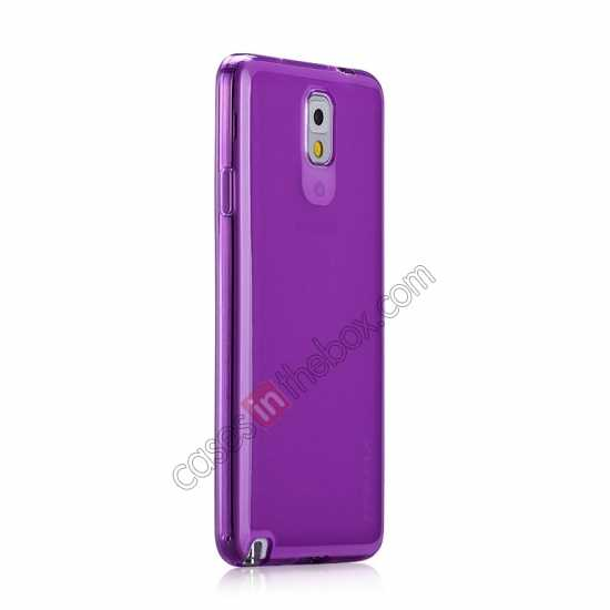 discount Momax Ultra Thin Series Clear Twist Silicon Case for Samsung Galaxy Note 3 - Purple