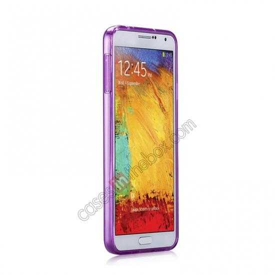cheap Momax Ultra Thin Series Clear Twist Silicon Case for Samsung Galaxy Note 3 - Purple
