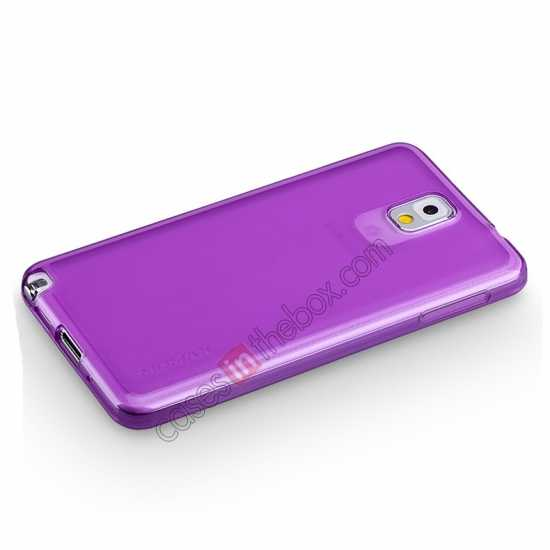 top quality Momax Ultra Thin Series Clear Twist Silicon Case for Samsung Galaxy Note 3 - Purple