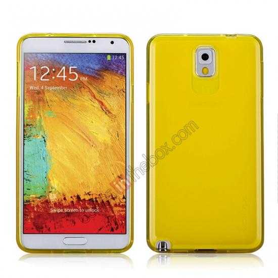 wholesale Momax Ultra Thin Series Clear Twist Silicon Case for Samsung Galaxy Note 3 - Yellow