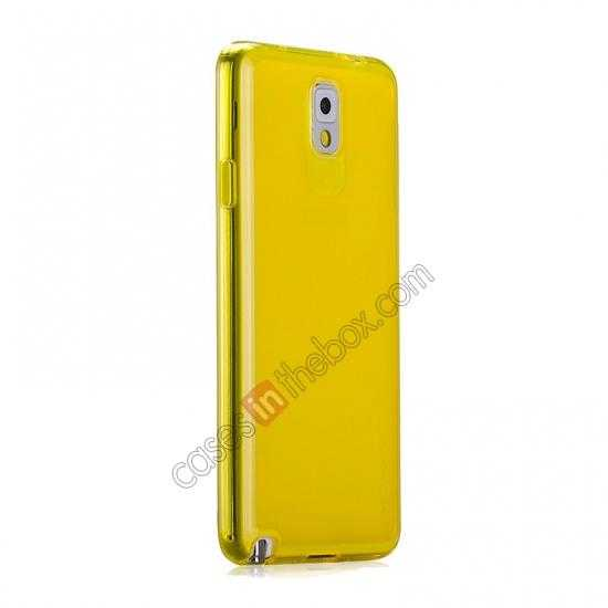 discount Momax Ultra Thin Series Clear Twist Silicon Case for Samsung Galaxy Note 3 - Yellow